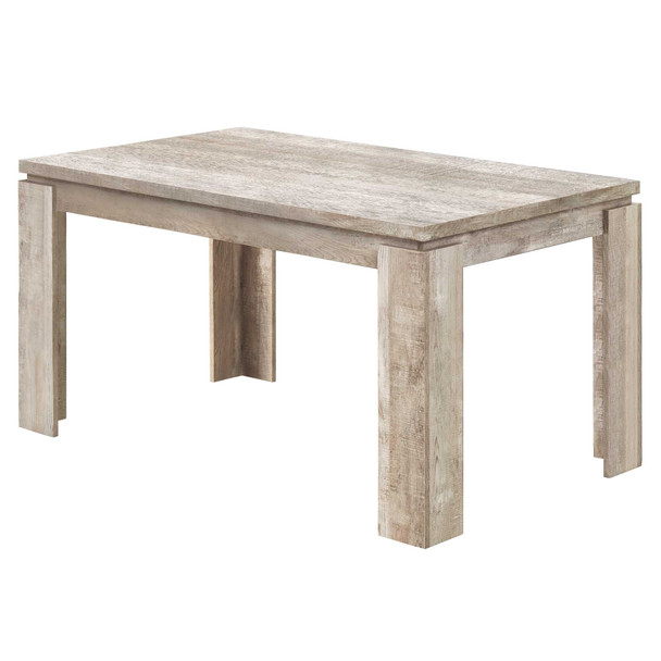"""35.5"""" x 59"""" x 30.5"""" Taupe, Reclaimed Wood Look - Dining Table"""