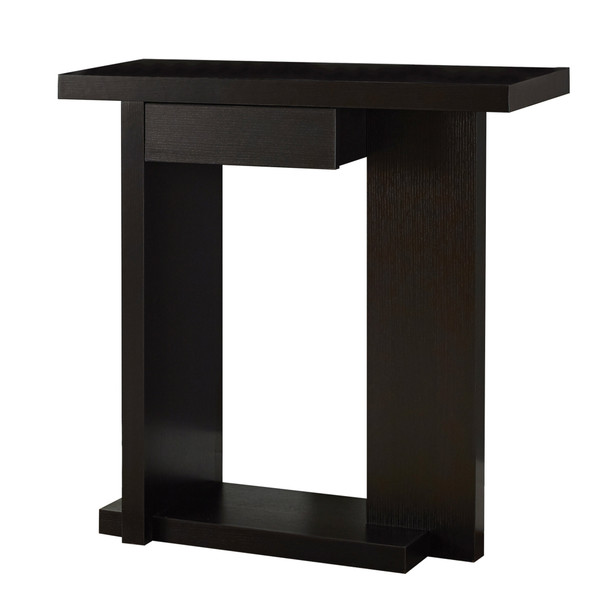 "11.5"" x 31.5"" x 33.25"" Cappuccino, Particle Board, Hall Console - Accent Table"