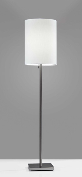 "13"" X 13"" X 60.5"" Brushed Steel Metal Floor Lamp"