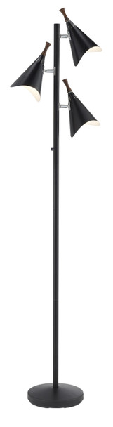 """17.5"""" X 10"""" X 68"""" Black Metal Tree Lamp"""