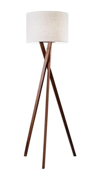 "20"" X 20"" X 63"" Walnut Wood Floor Lamp"