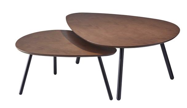 """30.71"""" X 41.34"""" X 17"""" Walnut Nesting Coffee Table"""