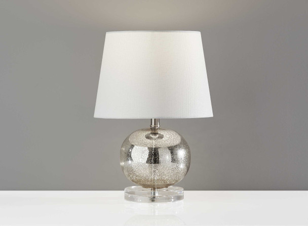 """10"""" X 10"""" X 15"""" Silver Table Lamp"""