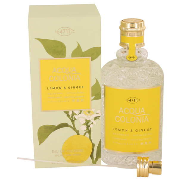 4711 ACQUA COLONIA Lemon & Ginger by Maurer & Wirtz Eau De Cologne Spray (Unisex) 5.7 oz for Women