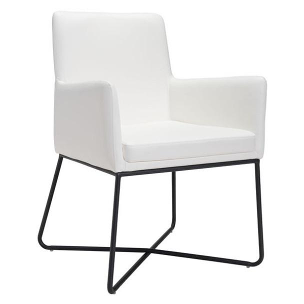 """24"""" X 24.8"""" X 33.9"""" White Lounge Chair"""