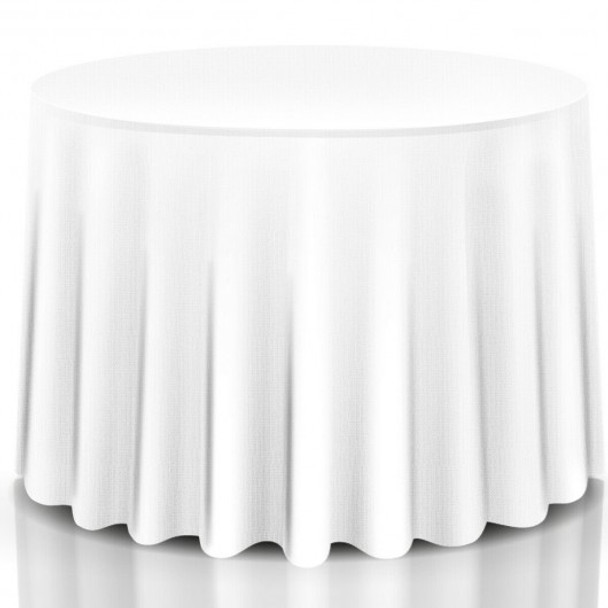 """10 pcs 90"""" Home Restaurant Polyester Round Tablecloth"""