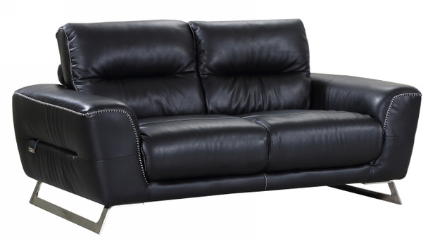 Leatherette Sofa Futon, Black - 329606