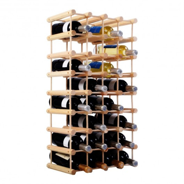 Wooden Wine Holder Bottle Rack for 40 Bottles