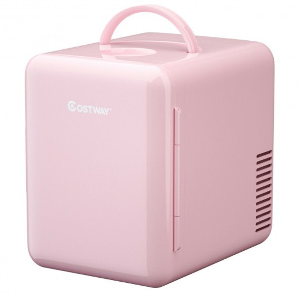 4 Liter Mini Cooler Warmer Fridge Portable-Pink
