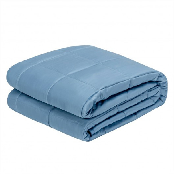 """48""""x72"""" Heavy Weighted 15lb Natural Bamboo Fabric Blanket-Blue"""
