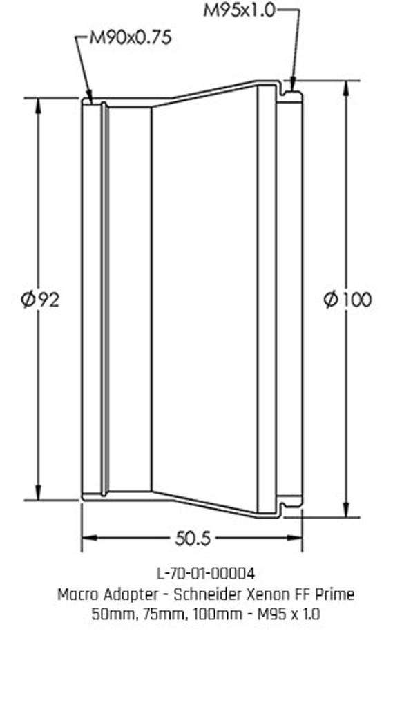 Brilliant Adapter - M95 x 1.0 x 50.5L