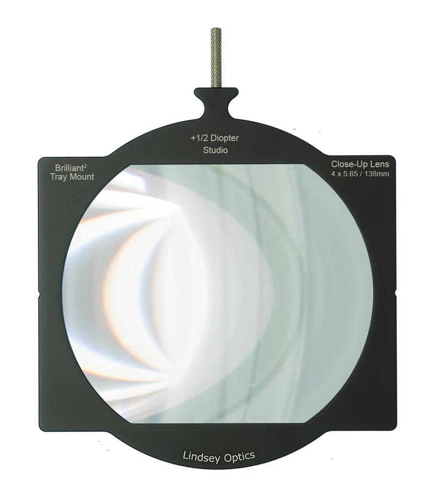 Lindsey Optics Tray Mount Studio Close-Up Lens +1/2 Diopter