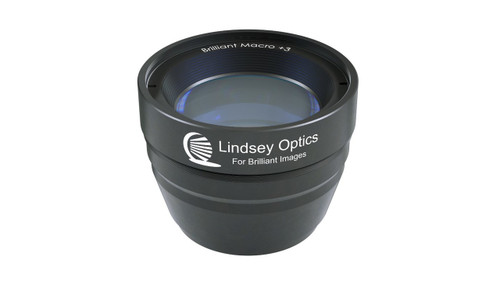 Brilliant Macro +3 Attachment Lens.  This Macro lens attachment works with cine prime lenses and compact zoom lenses.
