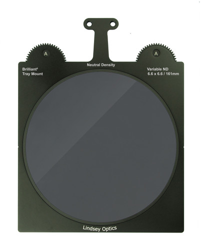"Lindsey Optics 6.6x6.6"" 161mm Variable ND filter fits 6.6x6.6"" matte boxes"