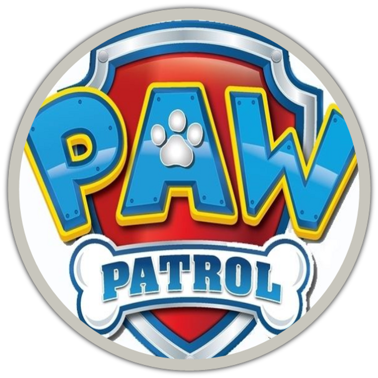 paw patrol logo  glass  snap junkies