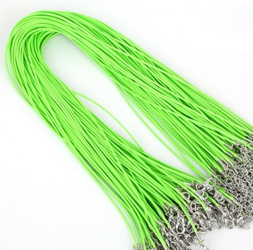 Chain - Vegan  Leather Lime Green