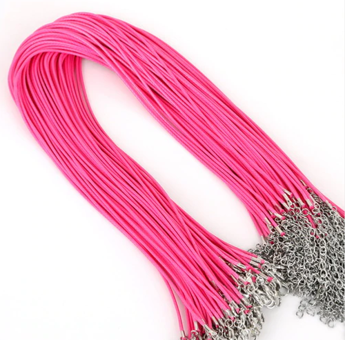 Chain - Vegan Leather Hot Pink