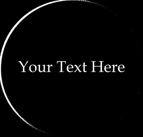 20mm Custom Glass Text - fits 20mm bases