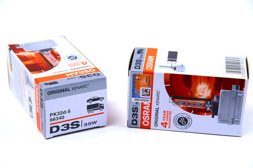 Osram D3S Original Xenarc bulb is the HID bulb that comes standard with most vehicle lighting systems.