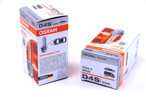 Osram D4S Original Xenarc bulb is the HID bulb that comes standard with most vehicle lighting systems.