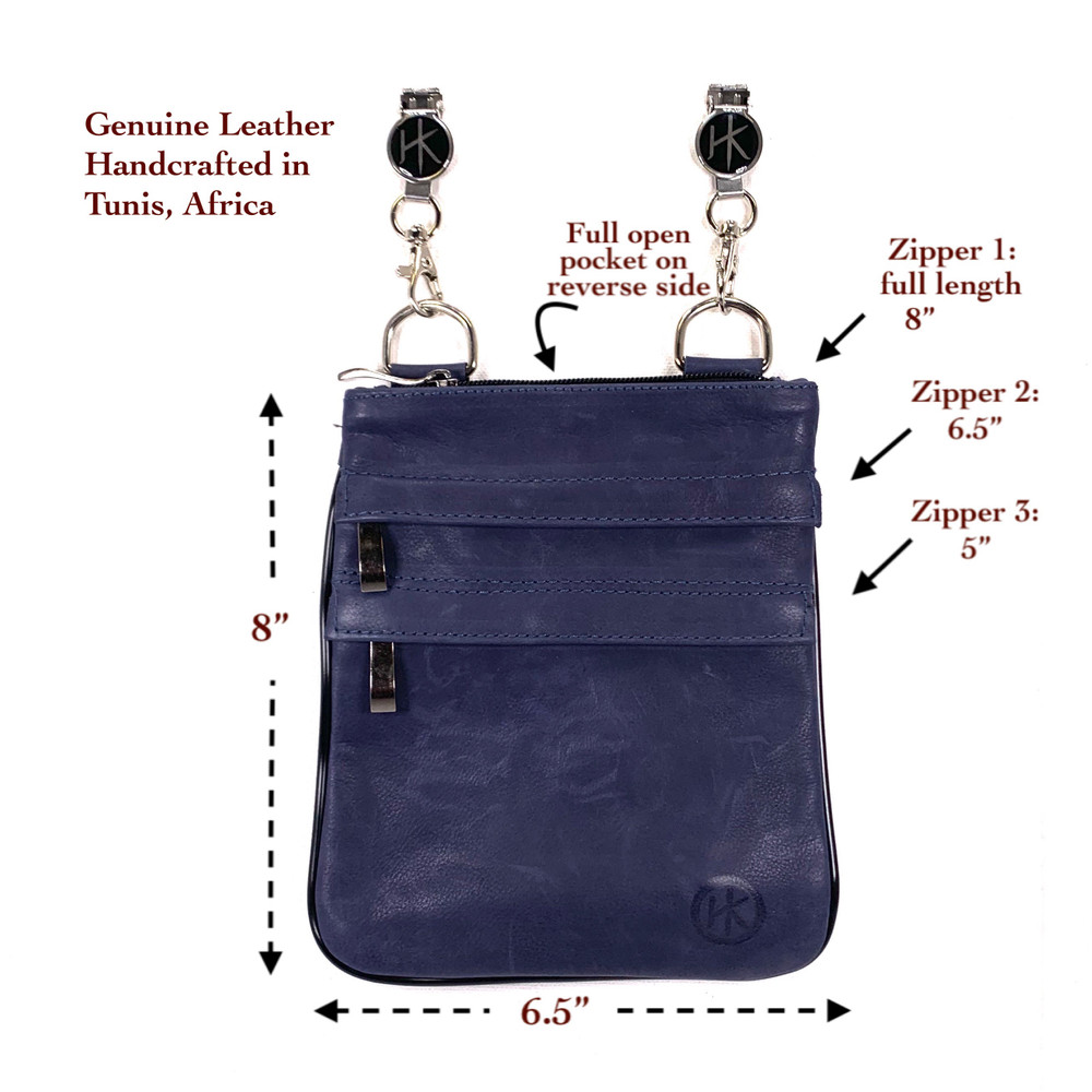 Genuine Leather Ocean Blue