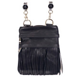 Genuine Leather Vertical Gypsy Black