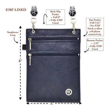 The Copper-Nickel Lining: BLOCKS the EMF's emitted from your cell phone (cell phone protection) BLOCKS RFID's (Identity Theft Protection)  Protecting the electronic transmission of information of your cell phone, credit cards, passport and Driver's License!