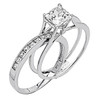 White Gold Engagement Ring - 14K  4.5 gr. - RG58