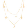 Yellow Gold Pendants and Chains Set - 14 K - JST392