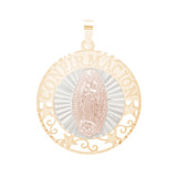 Confirmation Yellow Gold Pendant - Virgin Mary or Jesus - 14 K - CONP VM