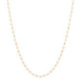 "14kt 1.5mm Tri-Color Valentino Chain - 20"" - 1.5 Gr - CH21V"