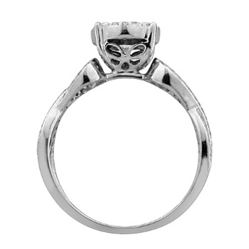 White Gold Engagement Ring with Diamonds - 59063