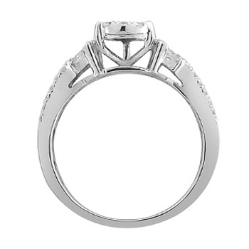 White Gold Engagement Ring with Diamonds - 59101