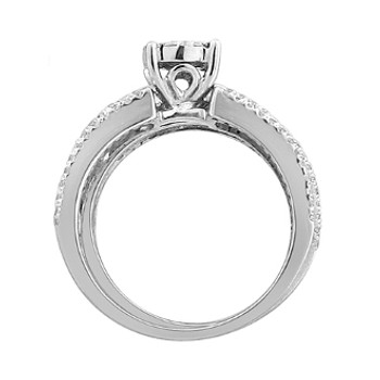 White Gold Engagement Ring / Band with Diamonds - 59069
