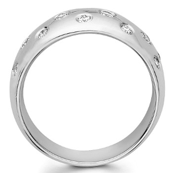 White gold wedding band with diamonds - BD4-17