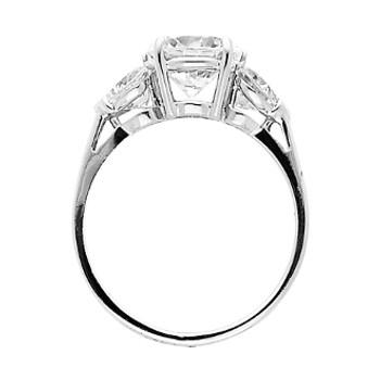 Yellow Gold Engagement Ring - 14 K.  2.9 gr - RG35
