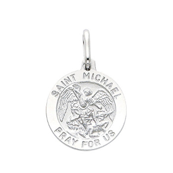 Yellow or White Gold Medal - St Michael - 14 K - 1.9 gr. - PT282