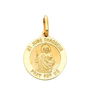 Yellow or White Gold Medal - St Jude - 14 K - 1.9 gr. - PT280