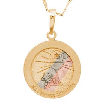 First Communion Gold Pendant - 14 K.  1.1 gr. - FC279