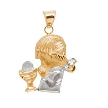 First Communion Gold Pendant - 14 K.  0.8 gr. - FC312