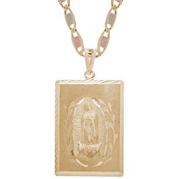 Yellow Gold Medal - Virgin Mary - 14 K - RP211