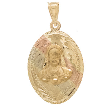 Yellow / White / Red Gold Medal - Jesus - 14 K - RP212