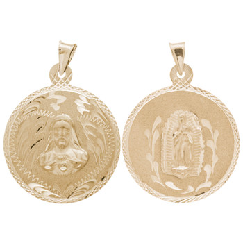 Yellow Gold Medal - 2 Sides - 14 K - RP219
