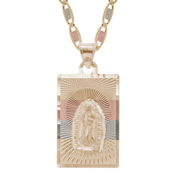 Yellow / White / Red Gold Virgin Mary Medal - 14 K - RP224