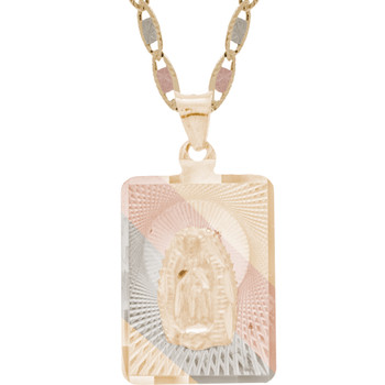 Yellow / White / Red Gold Virgin Mary Medal - 14 K - RP225