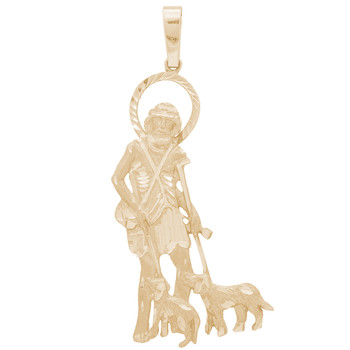 Yellow Gold Saint Lazarus Pendant  - 14 K - PTR558  14 K.| 17.5 gr.