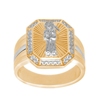 Men's Yellow & White Gold Ring - 14 K - RGO339