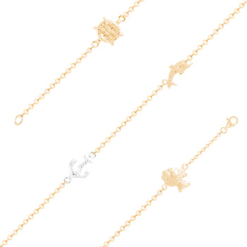 Yellow Gold Ankle Bracelet  - AKB225