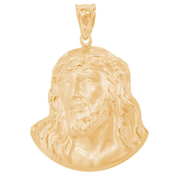 Yellow Gold Jesus Face Medal - 14 K - RP290