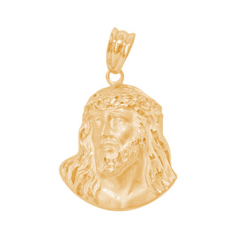 Yellow Gold Jesus Face Medal - 14 K - RP299